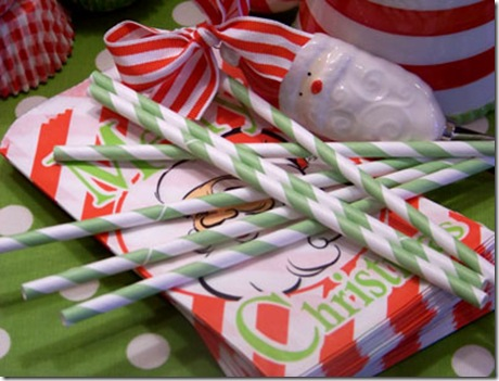 Bags Christmas Straws Med