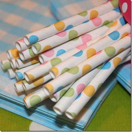 Paper Straws Confetti Dots 600