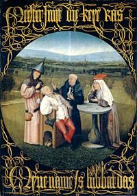 Extracción de la piedra de la locura (El Bosco 1475-1480)