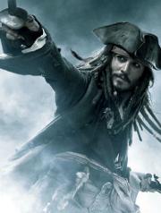 Pirata Jack Sparrow, de la película, Piratas del Caribe