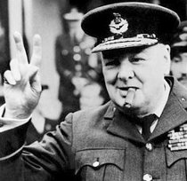 Foto original de Winston Churchill