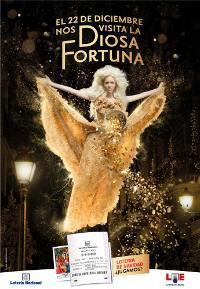 Cartel promocional de la Lotería de Navidad 2010