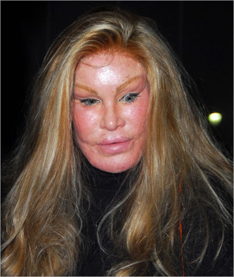Jocelyn Wildenstein  Famous for her extensive plastic surgery leaving Katsuya restaurant in Hollywood after dining with a male companion Los Angeles, California - 18.02.08 Credit: (Mandatory): Homero Tercero/WENN