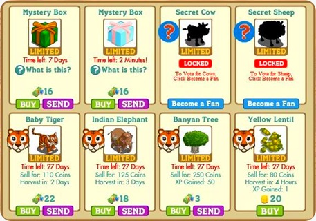 Master FarmVille Latest Update - Secret Cow - Secret Sheep - Indian Elephant - Baby Tiger - Yellow Lentil - Banyan Tree