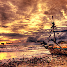 Cracks boat by Arall Photoworks - Landscapes Sunsets & Sunrises (  )