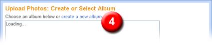 create select album on picasa,bloggerhelper