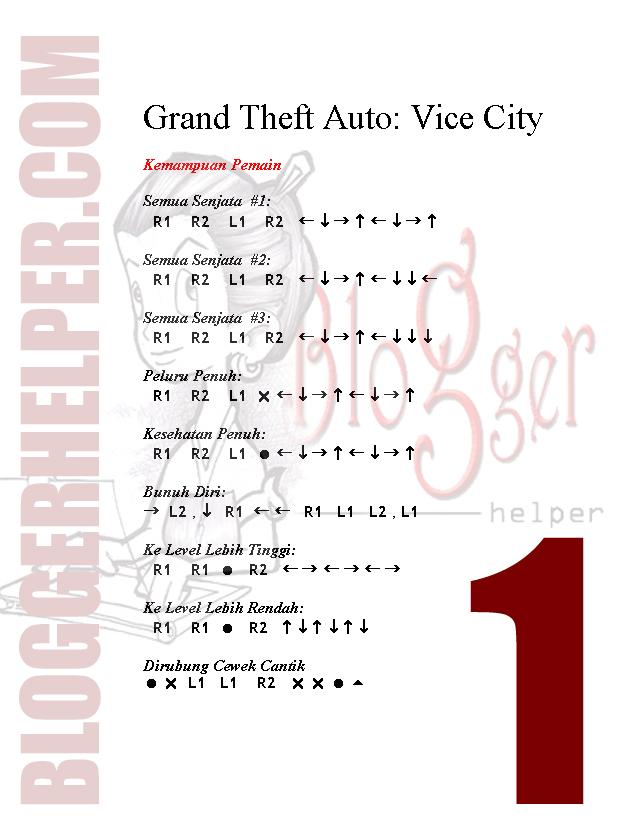 grand theft auto vice city cheat codes