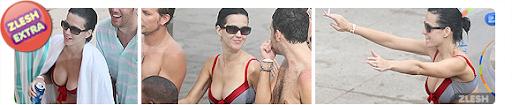 Katy perry só de biquini na praia com os amigos
