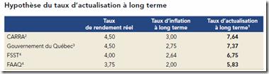 Hypothèse du taux d'actualisation à long terme