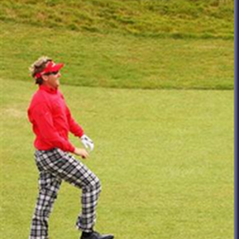 Ian Poulter Recreates Monty Python and The Holy Grail
