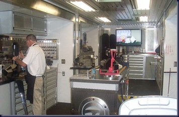 inside taylormade tour truck