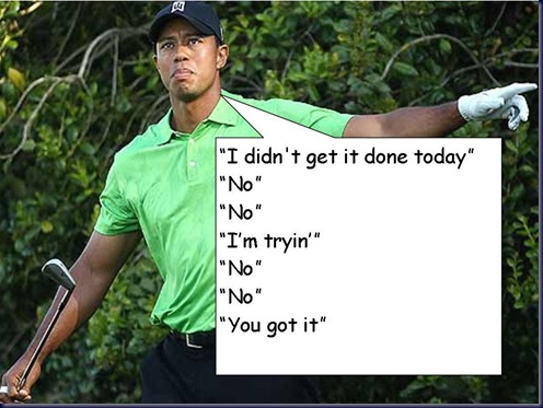 tiger woods interview technique