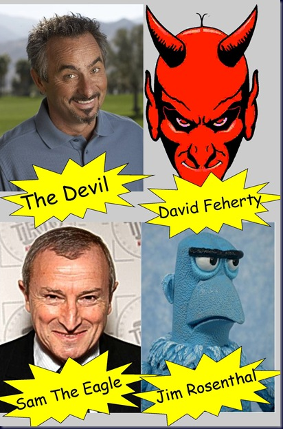 separated at birth feherty devil rosenthal sam eagle