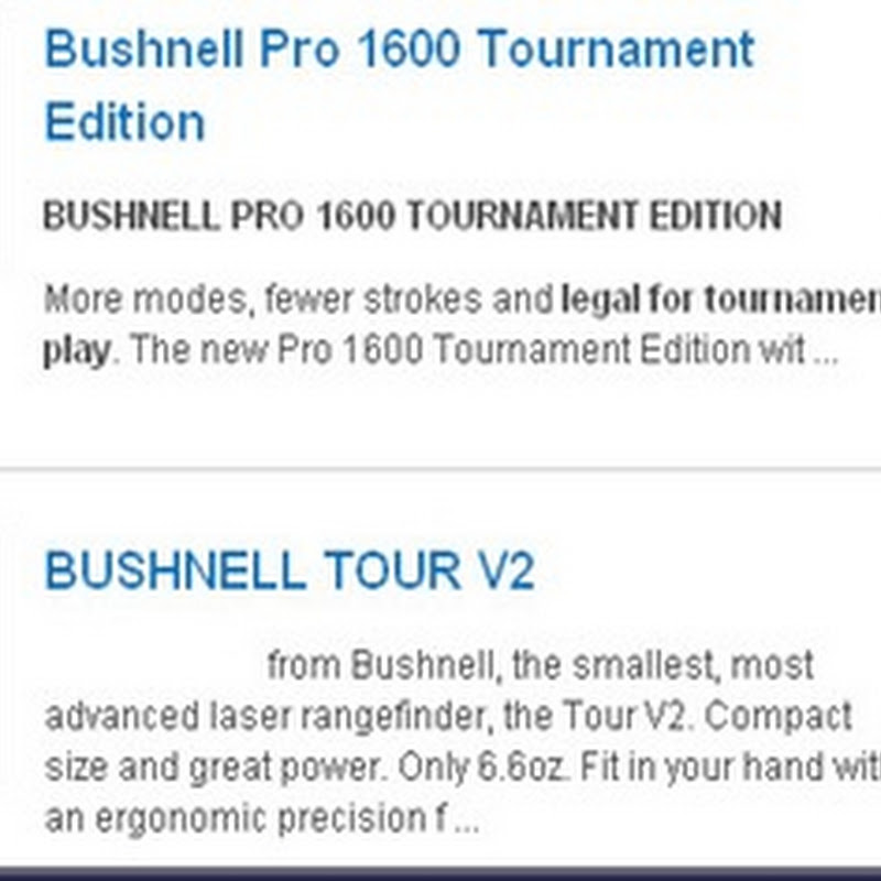 Brian McConnell Demonstrates How To Use the Bushnell V2 and V2 Hybrid Laser Range Finder- Golfbidder at the 2011 PGA Show