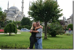 Pap & Pup with Blue Mosque behind