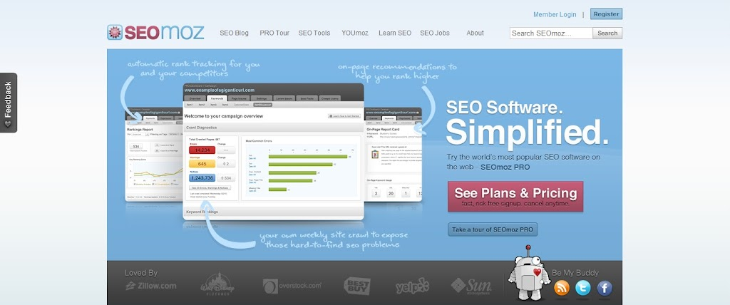 SEOMOZ search engine optimization