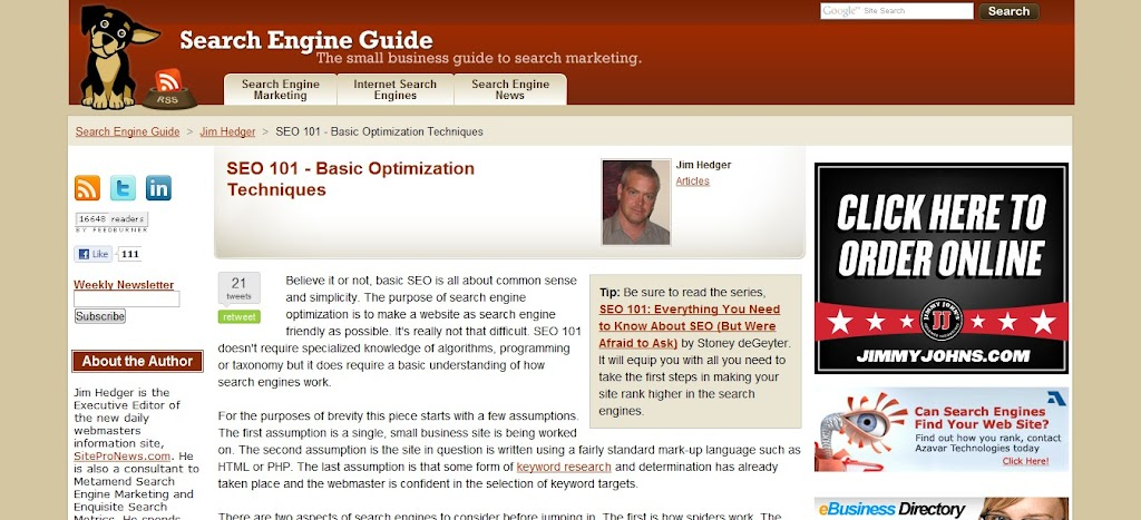 search engine guide: search engine optimization