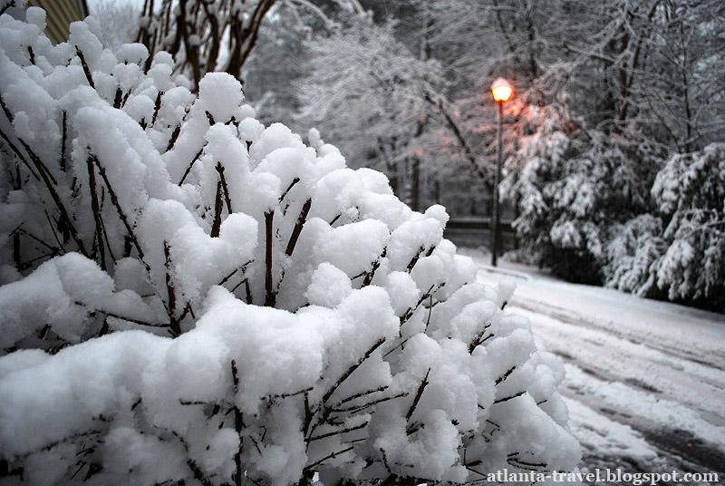 Атланта под снегом Atlanta snow
