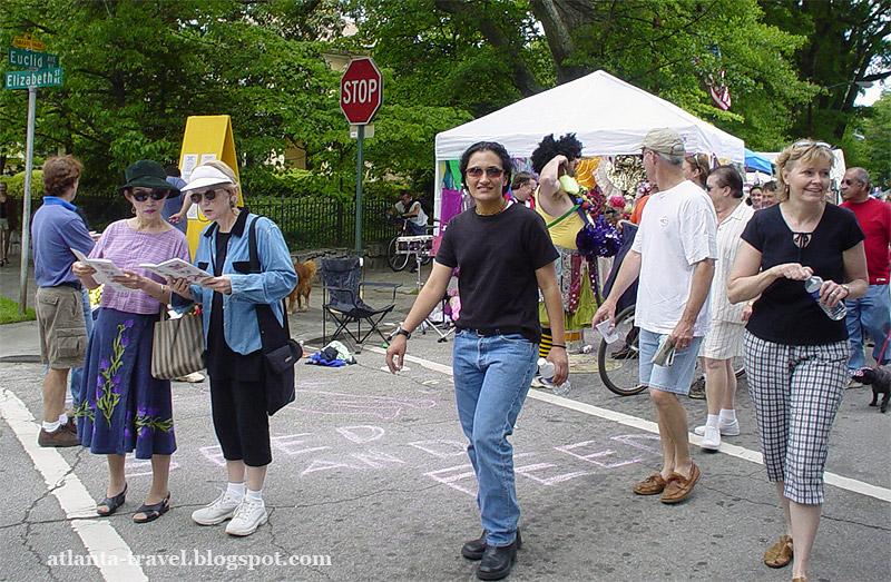 Парад и фестиваль в Инман парке. Inman park festival.