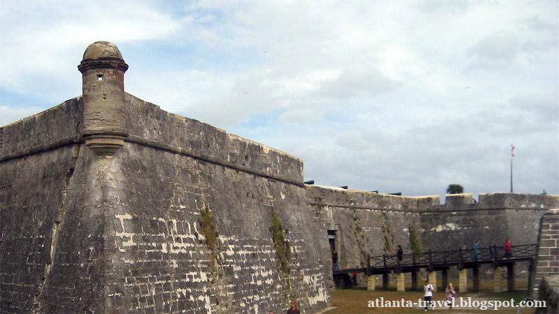 Форт Castillo de San Marcos в Сент-Огустине, Флорида
