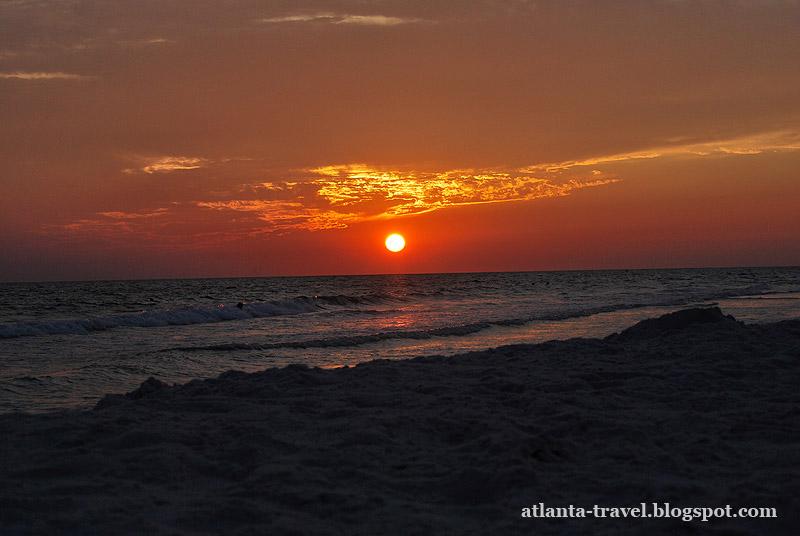 Фотографии заката во Флориде