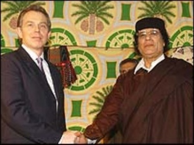 Mohamar khadaffi blair