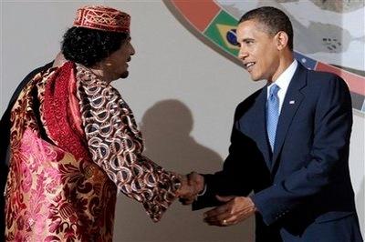 Mohamar khadaffi obama