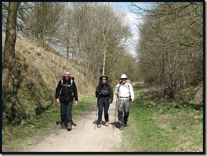Jeff, Gayle and Mick on the Tissington Trail