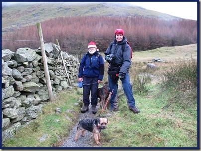 Santa, Bruno, Shirley and Piglet, leaving Mardale Head