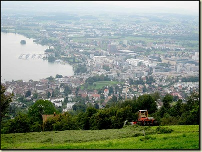 The view down to Zug from Blasenberg