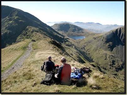 Lunch beyond St Sunday Crag