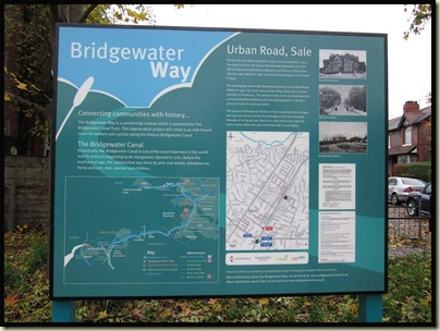 A typical 'Bridgewater Way' information board