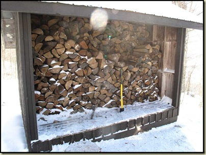 The wood store at Western Cabin