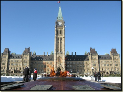 The Eternal Flame, outside Ottawa's Parliament Building
