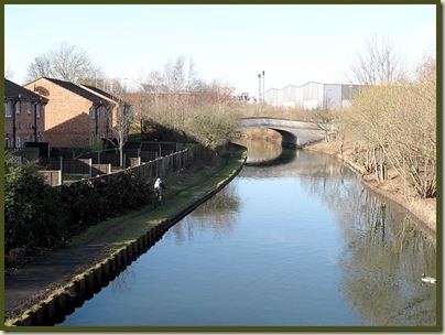 The Bridgewater Canal heads off towards Eccles