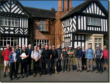 LDWA group outside Worsley Hall at the start of the Salford Trail (Part 3)