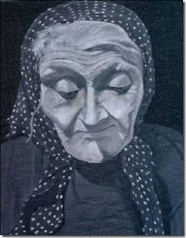 La vieille au fichu gris