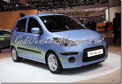 Hyundai i10 i-blue turbocharged three cylinder