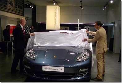 porsche panamera unveiled in india at mumbai dealership