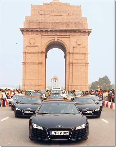 audi convoy delhi india gate