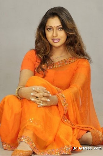 Bangladeshi Actress Nipun with orange saree
