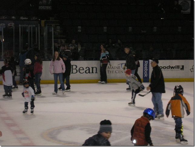 Cyndi and Kaitlyn (2 years old) at Skate With the Team