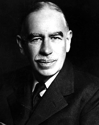 circa 1940:  English economist John Maynard Keynes, (1883 - 1946), created 1st Baron Keynes.  (Photo by Walter Stoneman/Samuel Bourne/Getty Images)