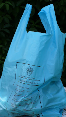Masterton District Council blue rubbish bag