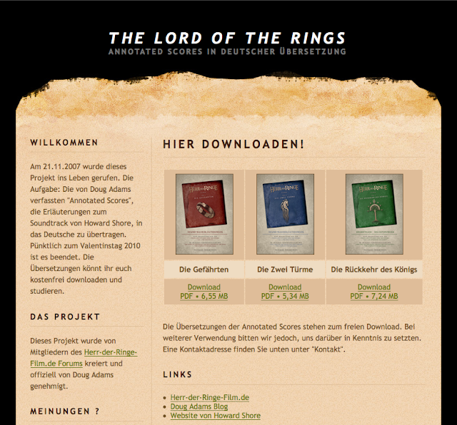 The Annotated Scores In German The Music Of The Lord Of The Rings