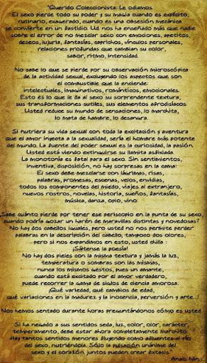 Carta de Anaïs Nin