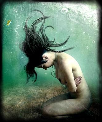 llorar debajo del agua