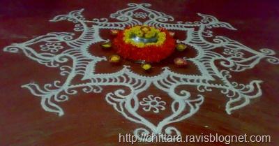 how to make white rangoli powder at home