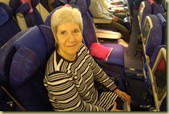 Pat on the plane at Sao Paulo