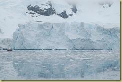 Glacier with zodiac